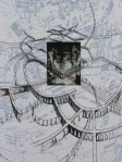 Intaglio, chine colle, and screen print on paper, 2011